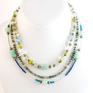 Lia Sophia Necklace layer necklace 3 strands